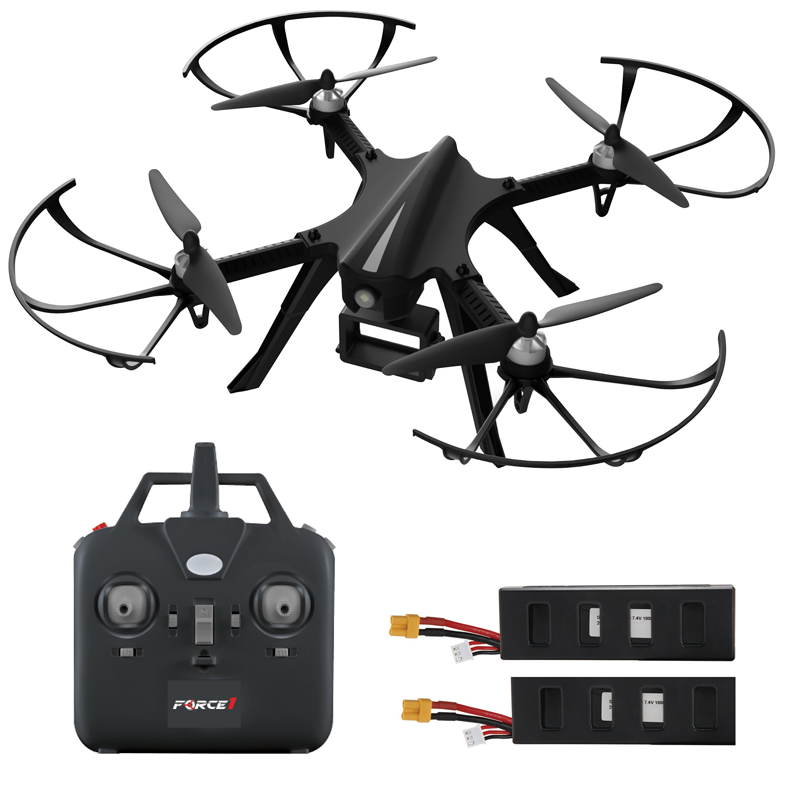 Force1 Brushless Quadcopter Drone F100 - Hero 3 or 4 Compatible GoPro Drone with 2 Batteries, Advanced Brushless Motors for Longer, Quieter Flight (Camera not Included)