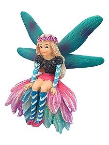 GlitZGlam Katrina The Garden Fairy - a Miniature Fairy Statue for Your Fairy Garden and Miniature Figurines