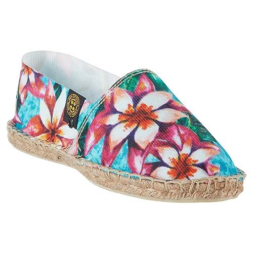 Art Of Soule | Alpargatas Planas sin Cordones - Originales y Auténticas - Fabricadas en Francia - Estampado Floral - Island: Amazon.es: Zapatos y ...