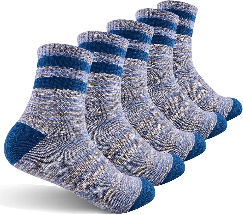 Womens Hiking Walking Socks FEIDEER Outdoor Recreation Socks Wicking Cushion Crew Socks