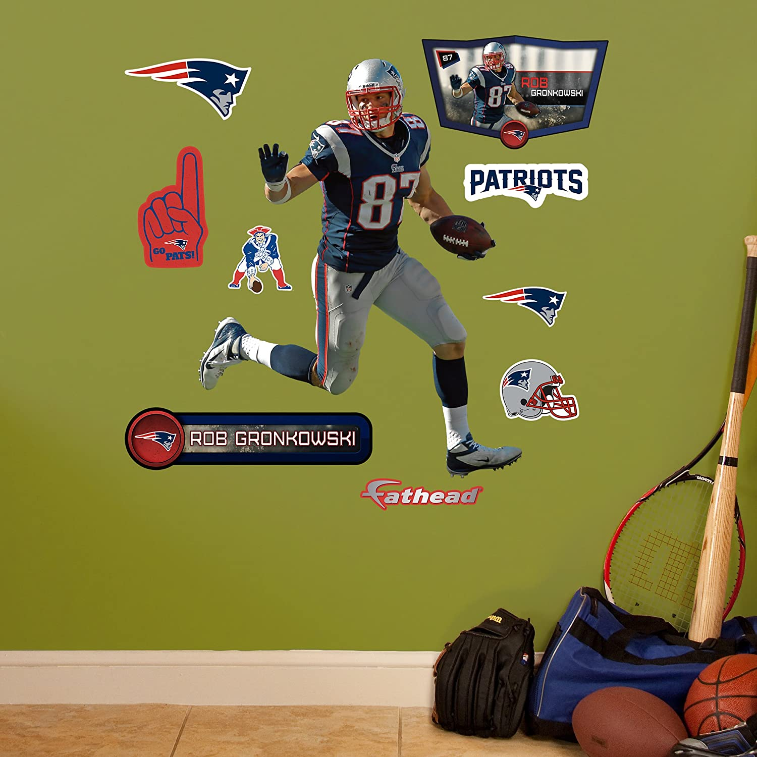 Amazon.com : NFL New England Patriots Rob Gronkowski Fathead Wall Decal,  Junior : Sports U0026 Outdoors