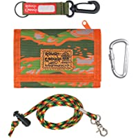 Rough Enough Kids Boys Lanyard Wallet with Keychain in Trifold Camo for Teen