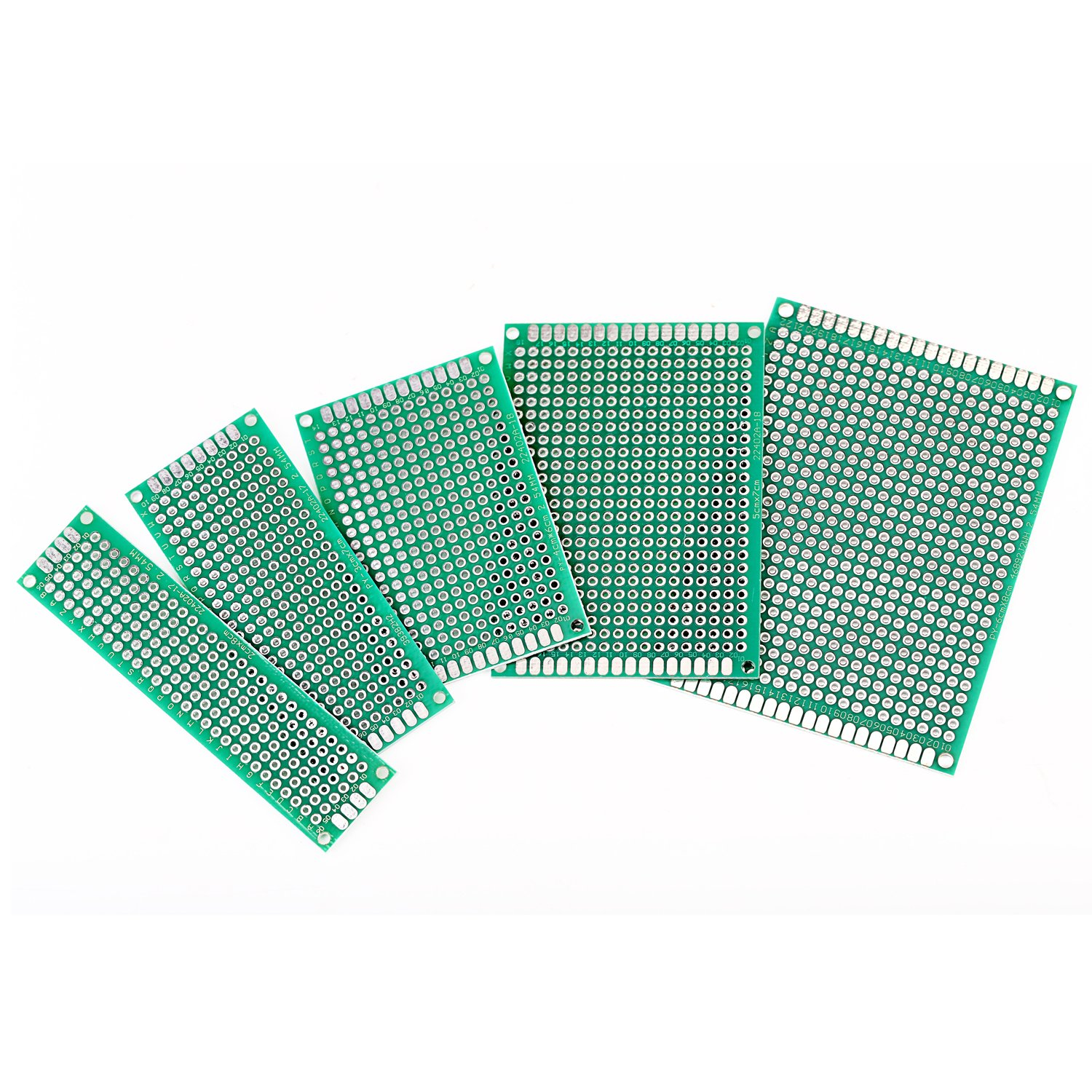 50 Pcs Double Sided Pcb Board Prototype Kit Soldering 5 Sizes Circuit Project Universal Printed For Diy And Electronic