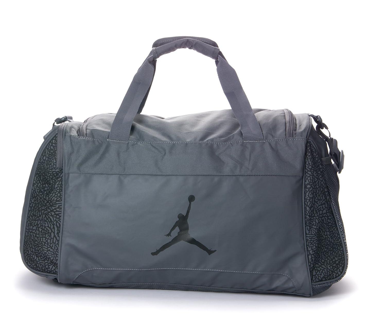 1b12fe48d4e9 Amazon.com  NIKE Air Jordan Male Sports Gym Travel Bag in Grey  (546471-021)  Clothing