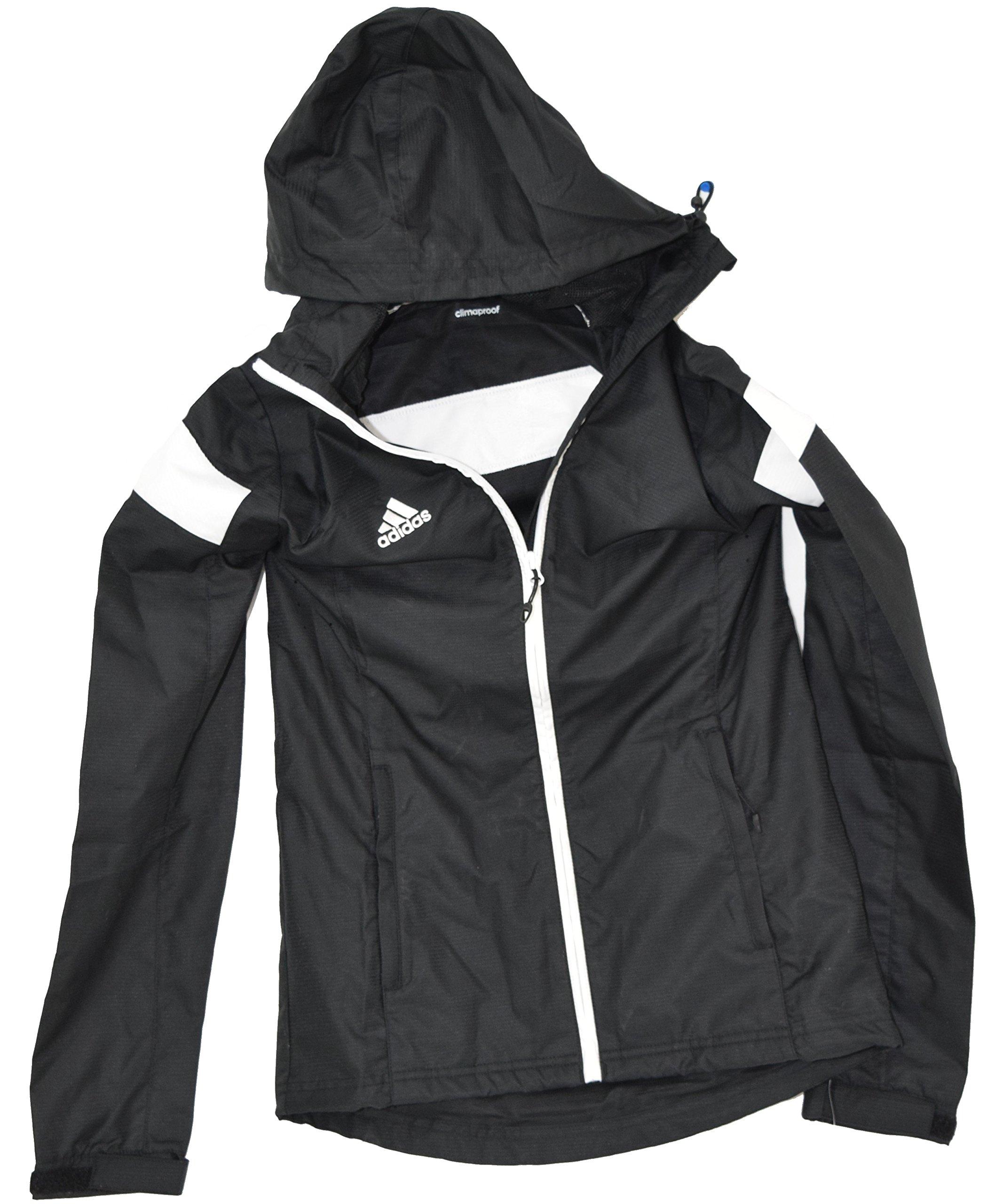 adidas Womens Team Woven Jacket, Black/White, X-Small