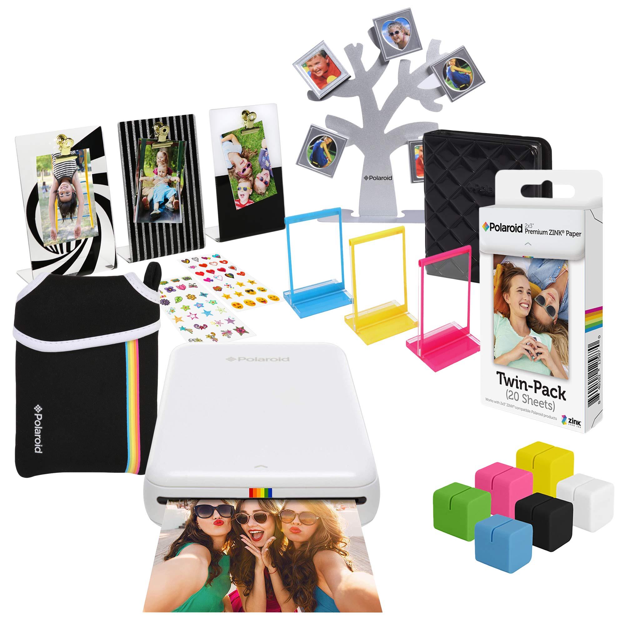 Polaroid Zip Wireless Photo Printer (White) Ultimate Gift Bundle by Polaroid