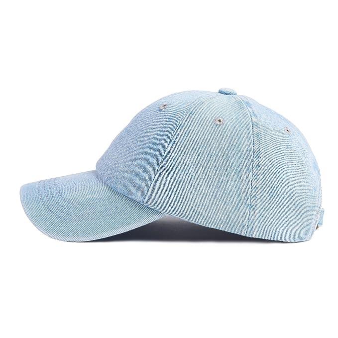 9d4437699c3 Choomon Unisex Cotton Denim Baseball Cap Adjustable Strap Low Profile Plain  Hats - -  Amazon.co.uk  Clothing