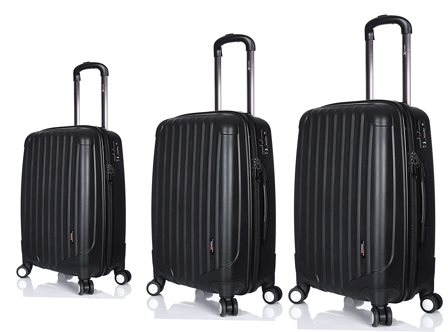 LuggageX Set di valigie nero Black 28 + 24 + 21