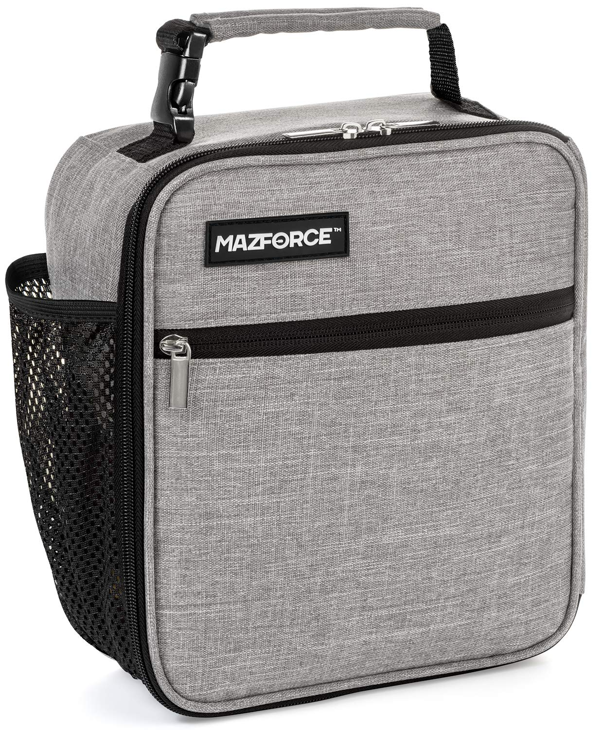 dff4905fb320 MAZFORCE Original Lunch Box Insulated Lunch Bag - Tough & Spacious Adult  Lunchbox to Seize Your Day (Wolf Grey - Lunch Bags Designed in California  for ...
