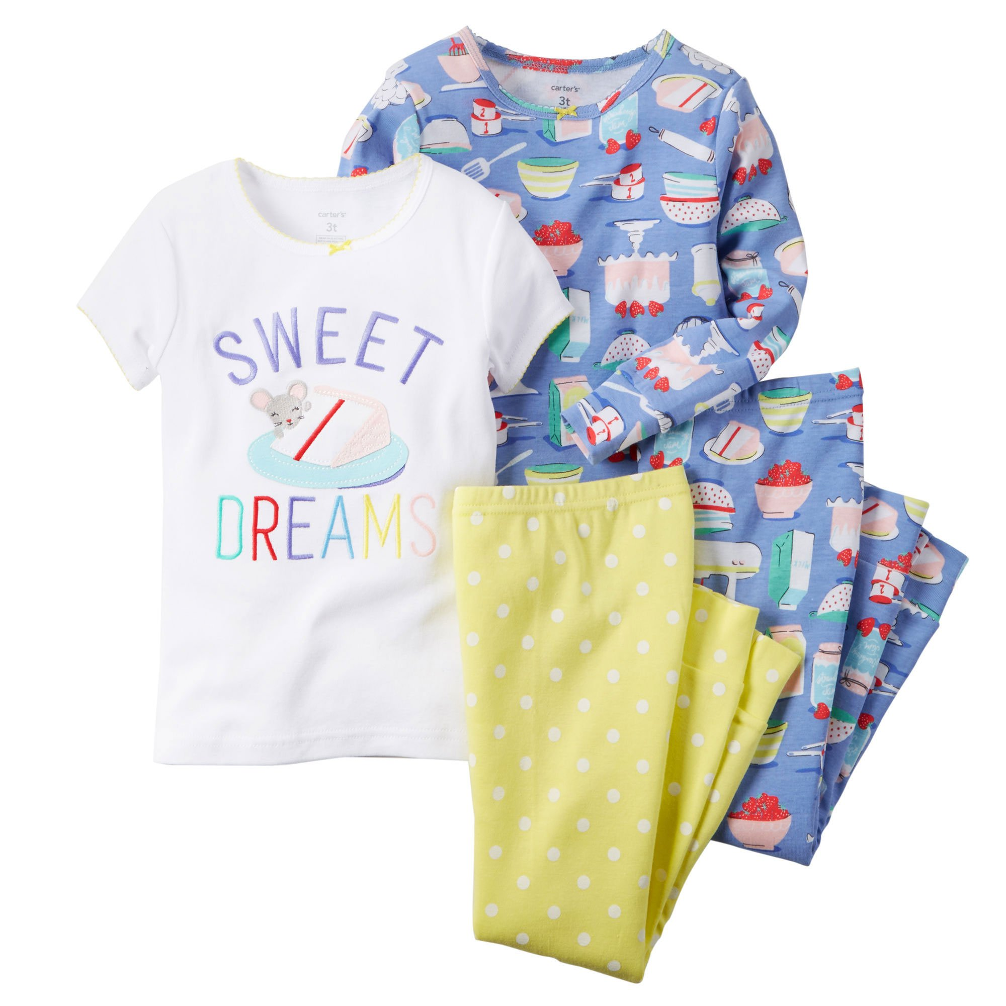 Carters Girls 4-8 Sweets 4-Piece PJ Set (5)