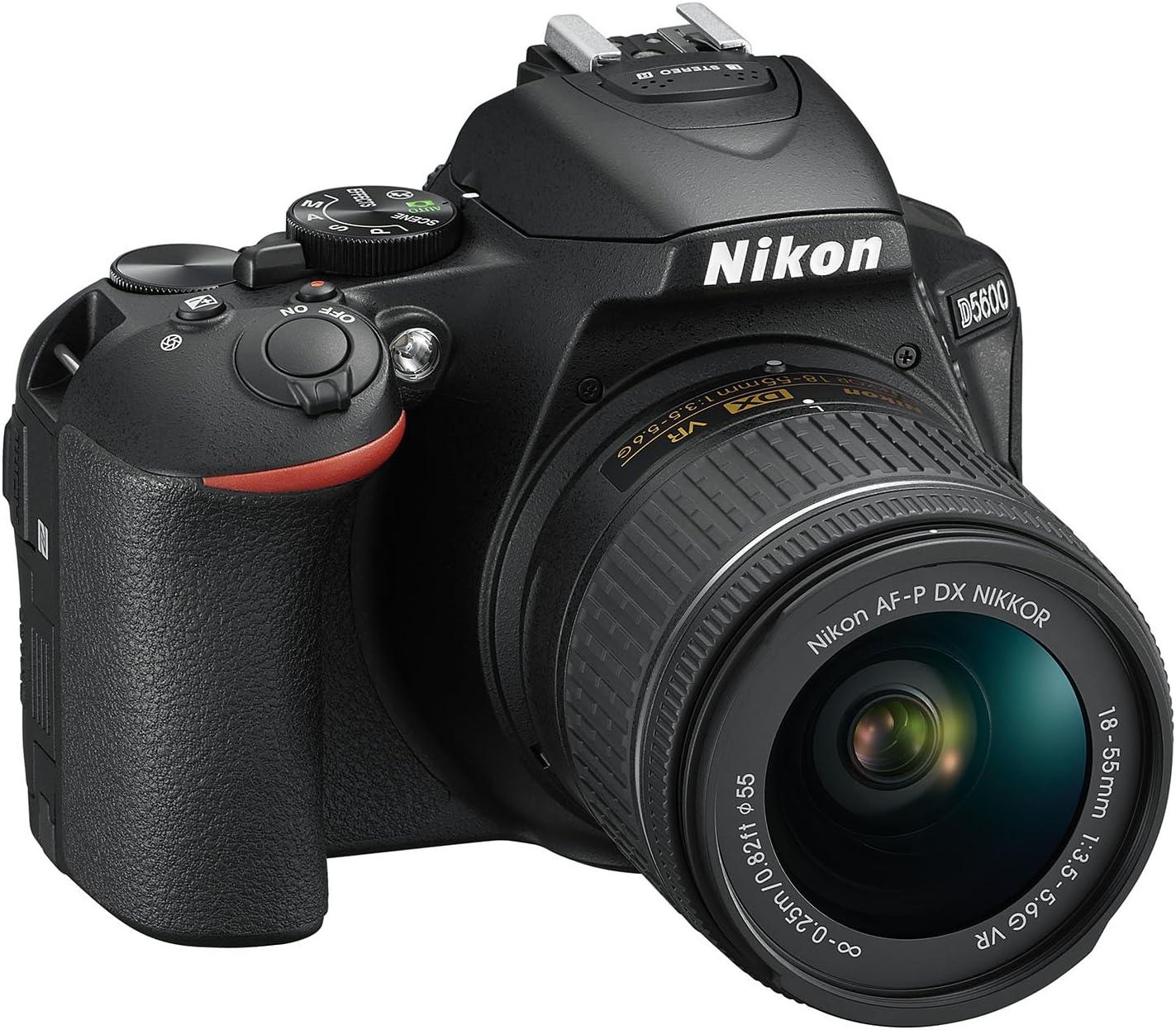 Nikon D5600 + AF-P DX 18-55mm VR + 8GB SD Juego de cámara SLR 24,2 ...