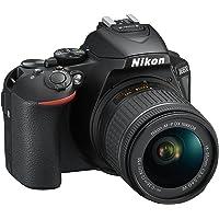 Nikon D5600 + AF-P DX 18-55mm VR + 8GB SD Juego de cámara SLR 24,2 MP CMOS 6000 x 4000 Pixeles Negro - Cámara Digital (24,2 MP, 6000 x 4000 Pixeles, CMOS, Full HD, Pantalla táctil, Negro)
