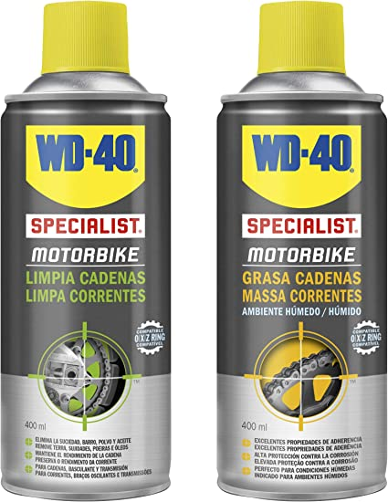 Wd 40 - Wd40 Specialist Motorbike - Pack Spray Limpiacadenas 400Ml ...