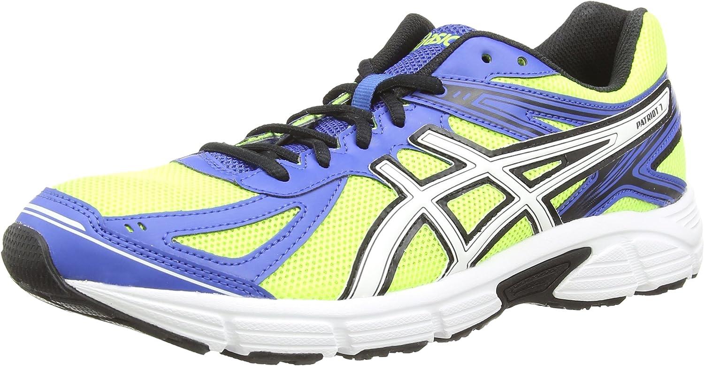asics Patriot 7 - Zapatillas entrenamiento/correr de sintético hombre, Color Amarillo (Flash Yellow/White/Blue 701), Talla 44 EU (9 UK) (10 US): Amazon.es: Zapatos y complementos