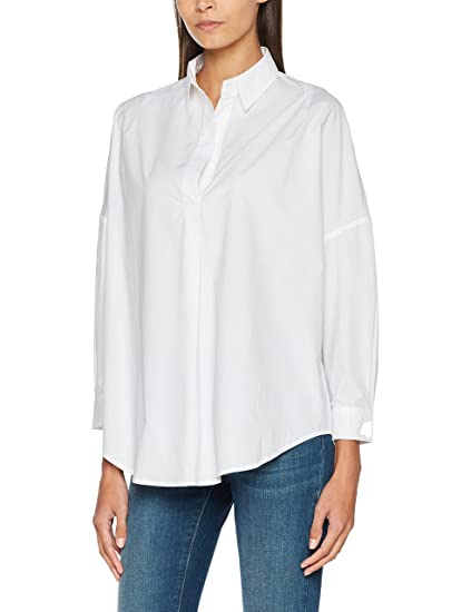 1ef21751d95 French Connection Women s Rhodes Poplin Popover Shirt  Amazon.co.uk   Clothing