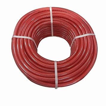 Rehau reforzado E Colour - PVC Tejido Manguera Manguera Manguera compresor aire comprimido Alimentos Manguera Colores rollo de 50 metros, Rojo: Amazon.es: ...