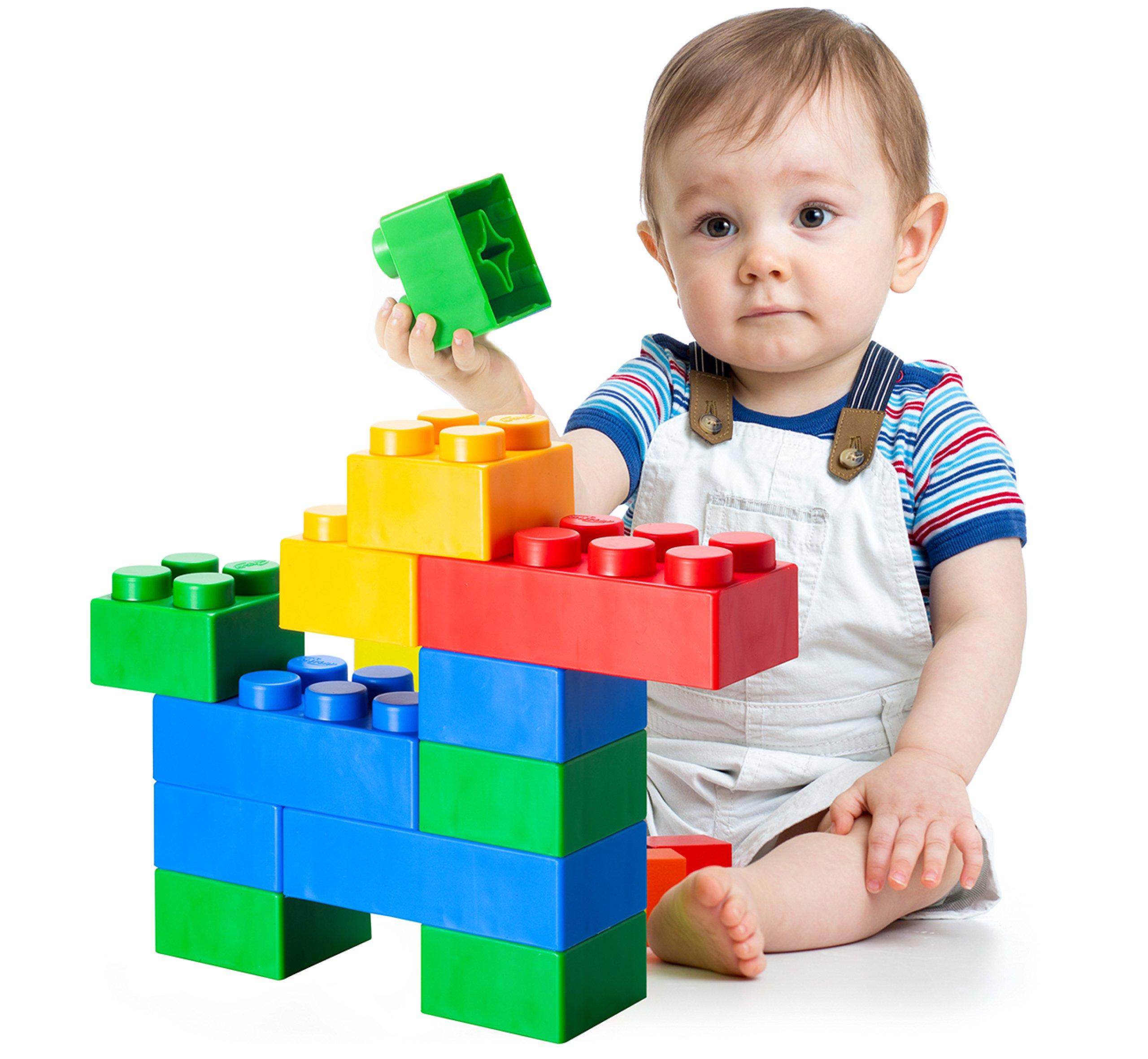 UNiPLAY Jumbo Soft Building Blocks - Plump Series (36pcs), Educational Creative Toys, Food Grade Material(Antibacterial), Non-Toxic, BPA Free, 100%Safe Kids, Toddlers, Baby, Preschoolers