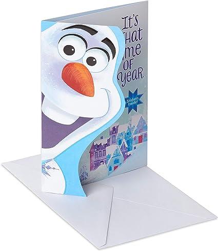 Carte de vœux de Noël américaine pour enfant avec autocollants