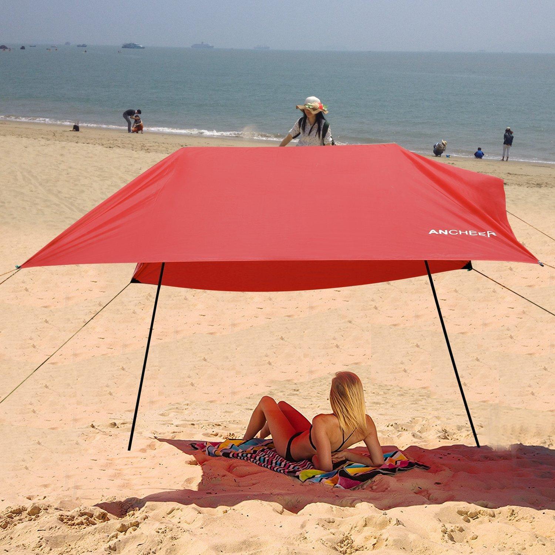 Kigins 3 x 3 m Sun Shelter Zelt für Strand, Wasserdicht/Tarp Shelter/Profly Regenplane/Sun Tarp/Zelt Tarp, Arbeit als Mini Canopy