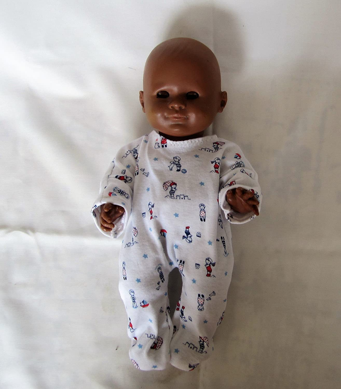 Pyjama dors-bien en jersey pour poupon 30 cm