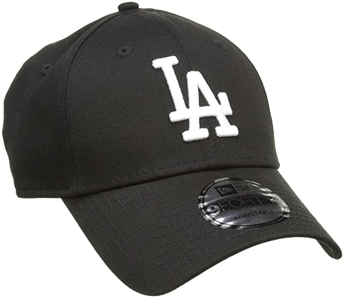 wholesale dealer 37176 a3ea6 New Era Los Angeles Dodgers 9forty Strapback Cap Black White Adjustable 940  Basecap  Amazon.ca  Clothing   Accessories