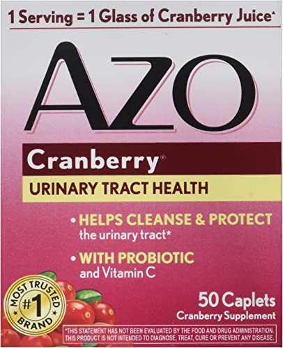AZO Cranberry for Healthy Urinary Tract with Immune Boosting Probiotic Vitamin C - 50 Tab
