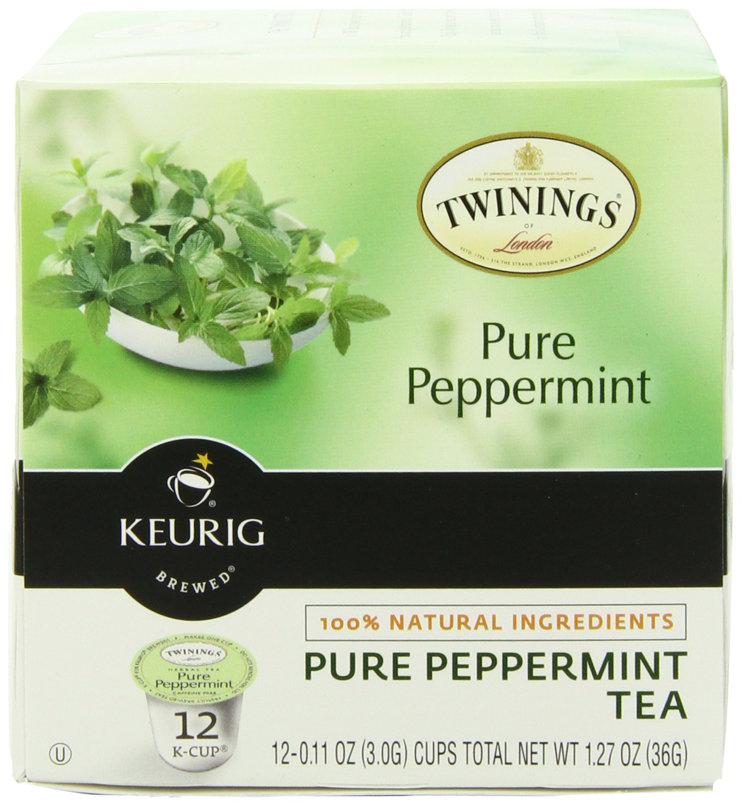 Twinings of London Pure Peppermint Tea K-Cups for Keurig, 12 Count (Pack of 6) by Twinings (Image #1)