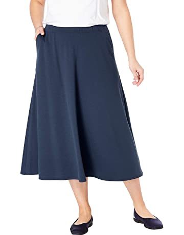 054fa01bad4 Woman Within Women's Plus Size A-Line Ponte Skirt
