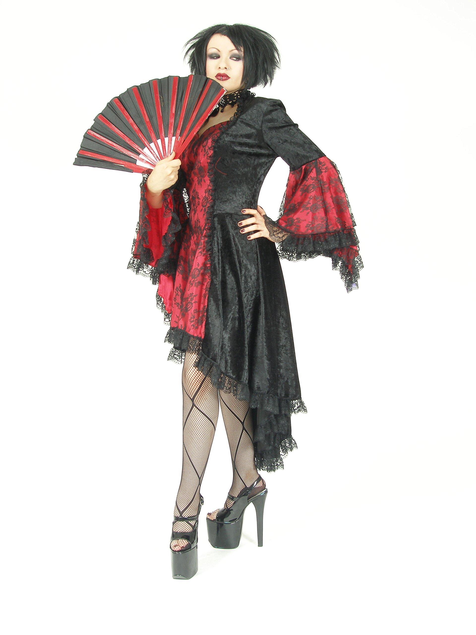 Eternal Love Plus Size Black Scarlet Red Gothic Gwendolyn Dress Taffeta Lace (2X)