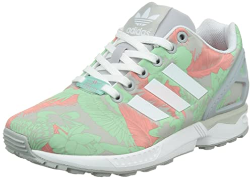 3cf3d877041fb adidas ZX Flux Womens Trainers Green Size  4  Amazon.co.uk  Shoes   Bags