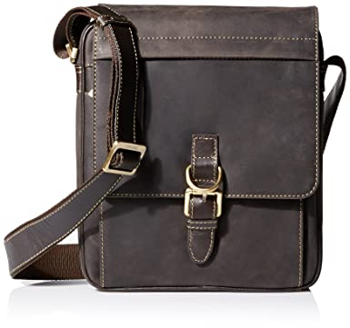 Amazon.com | Visconti 16011 Distressed Leather Messenger Crossbody ...