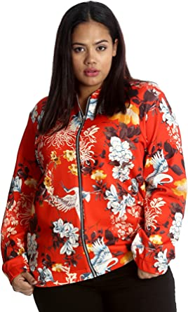 Womens Plus Size Bomber Jacket Ladies