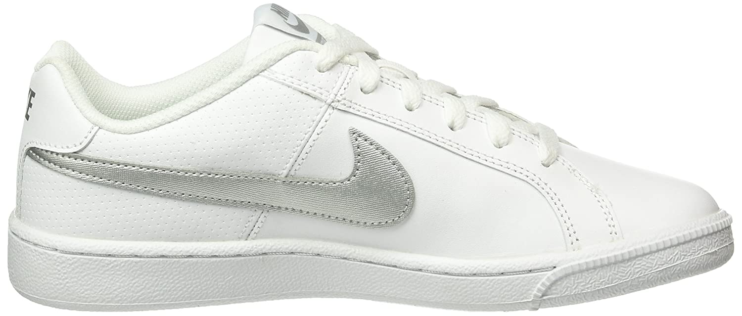 aaa10d8fcba2 Nike Women s WMNS Court Royale White Metallic Silver Sneakers-6 UK India  (40 EU)(8.5 US) (749867-100)  Buy Online at Low Prices in India - Amazon.in