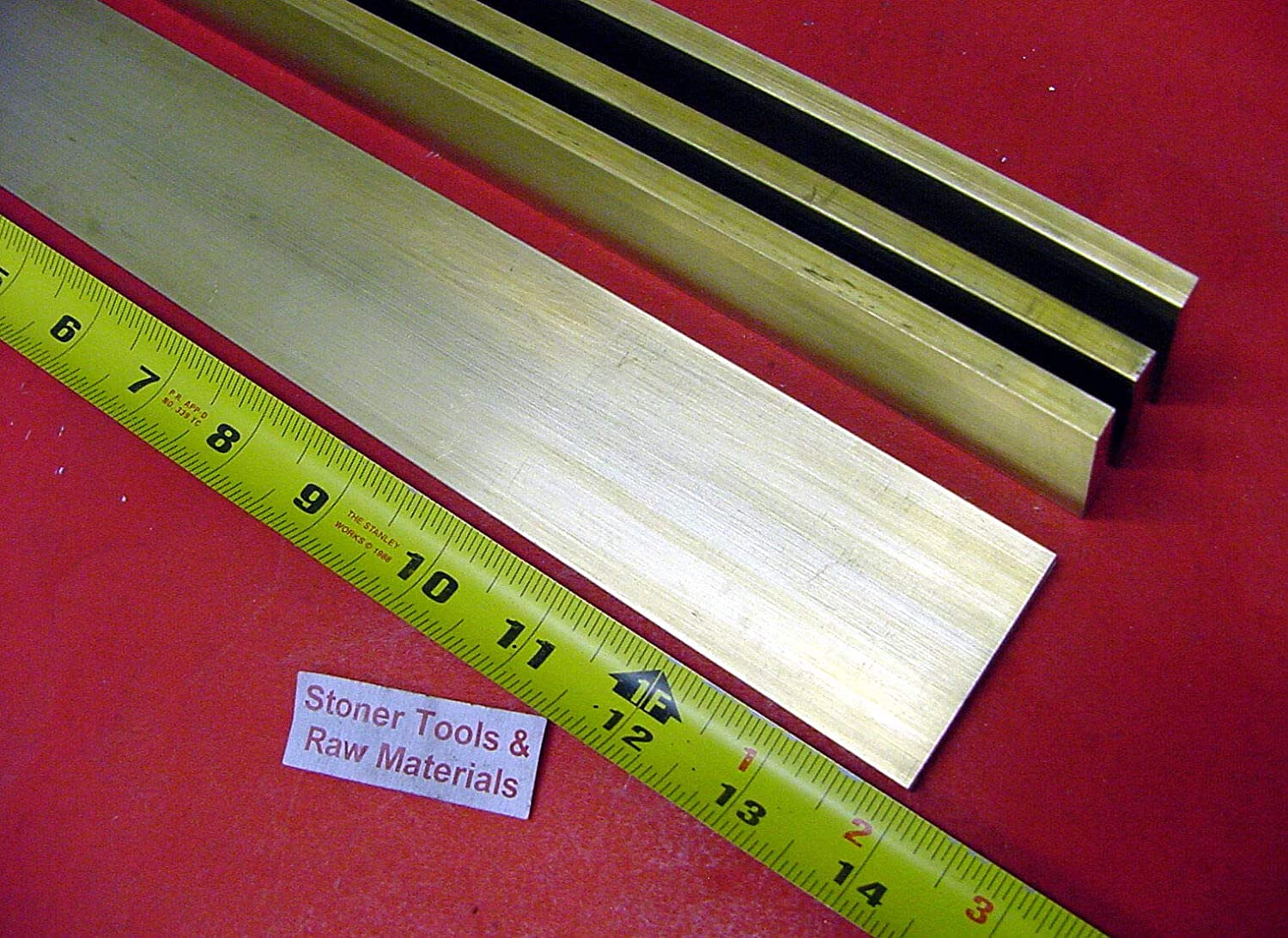 "1//4/"" x 2/"" C360 BRASS FLAT BAR 18/"" long Solid .250/"" Plate Mill Stock H02"