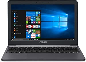 """ASUS L203MA-DS04 VivoBook L203MA Laptop, 11.6"""" HD Display, Intel Celeron Dual Core CPU, 4GB RAM, 64GB Storage, USB-C, Windows 10 Home In S Mode, Up To 10 Hours Battery Life, One Year Of Microsoft 365"""