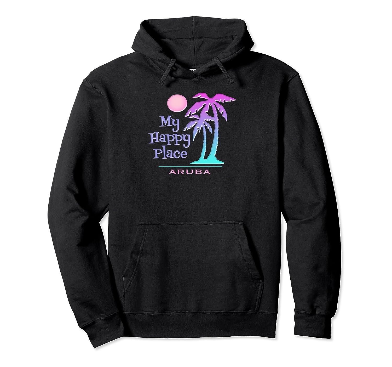 Aruba Souvenir Hoodie Palm Tree Happy Beach Sweatshirt-fa