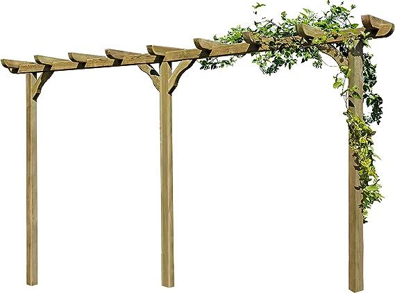 Pérgola de madera Archway Trellis de aprox. 450 cm de largo con postes de 9 x 9 cm, de Gartenpirat®