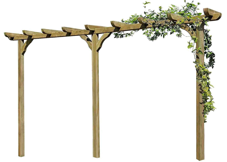 Gartenpirat Pergola aus Holz Torbogen Rankhilfe L/änge ca 450 cm mit Pfosten 9x9cm