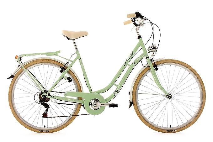 KS Cycling Damen Fahrrad Cityrad Casino 6 Gänge Grün, 28 Zoll