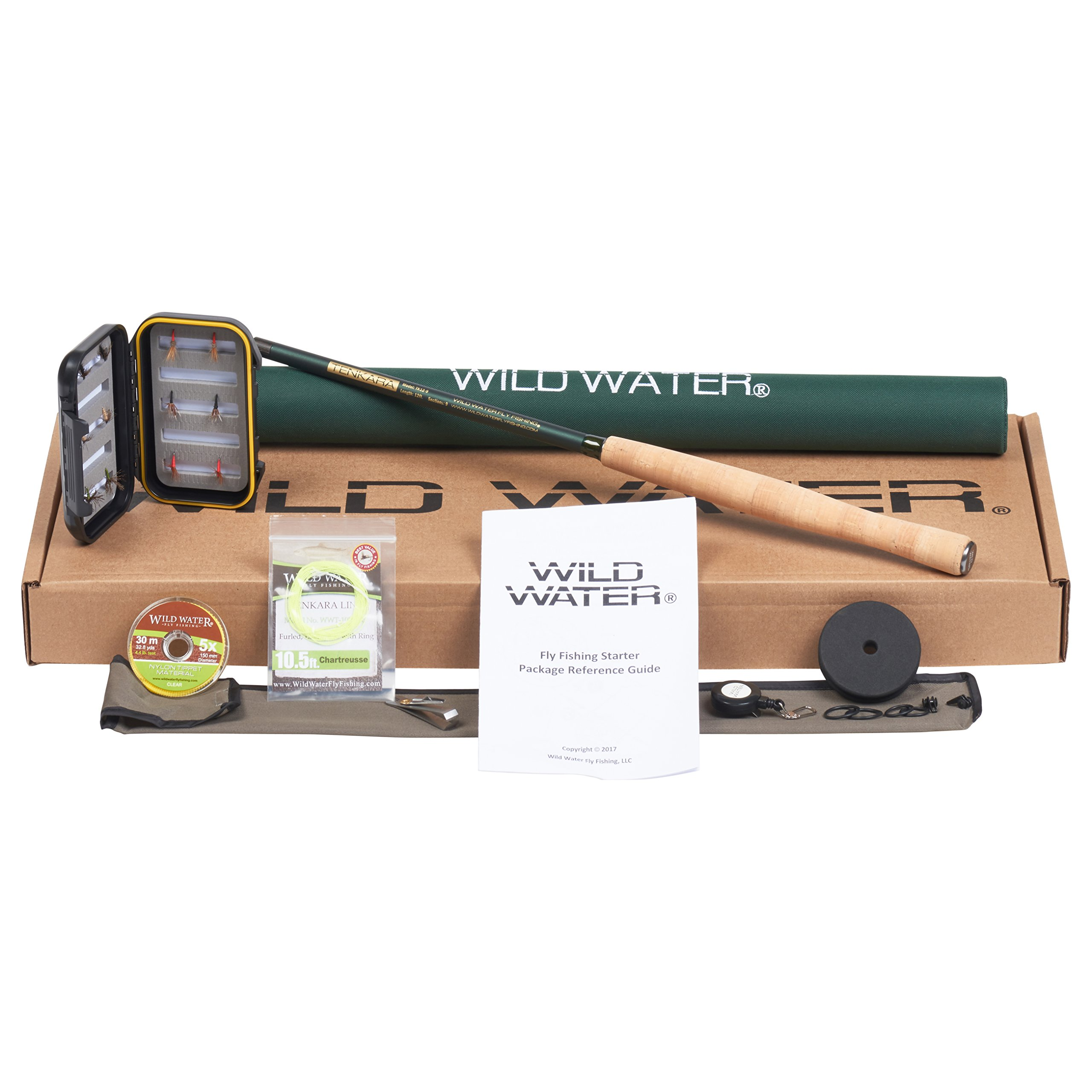 Wild Water Tenkara 12' Rod Fly Fishing Complete Starter Package by Wild Water
