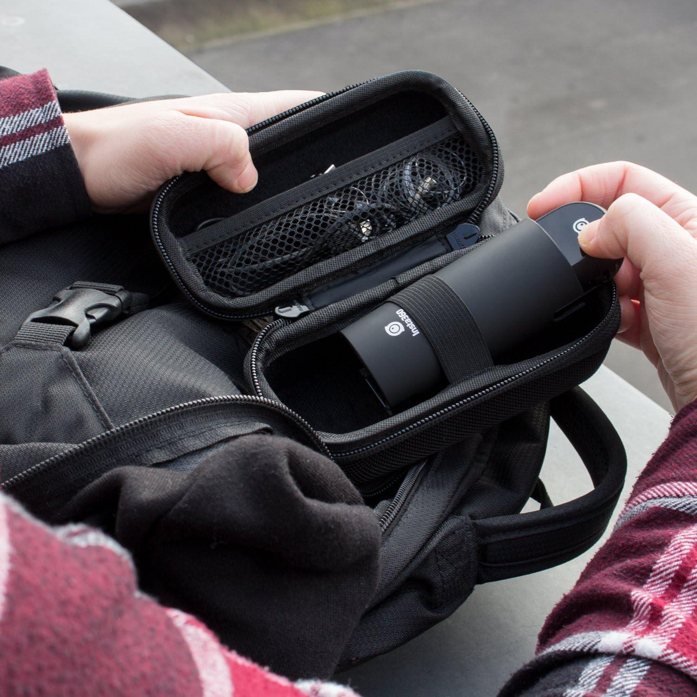 Khanka Hart Tasche mit Objektivdeckel f/ür Insta360 ONE X 360/° Videokamera und Bullet Time Bundle kit Selfie Stick Integriertem Stativ Zus/ätzlichem Ergonomischem Griff. Tasche+Objektivdeckel