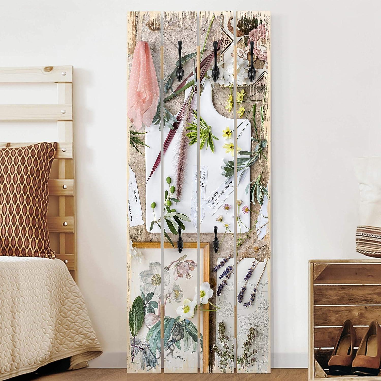 Perchero de Madera Wellness Orchid, 100x40 cm Incl. Ganchos ...