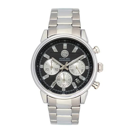 """Michael Zweig """"IVth Dimension SL"""" Stainless Steel Band Chronograph ..."""