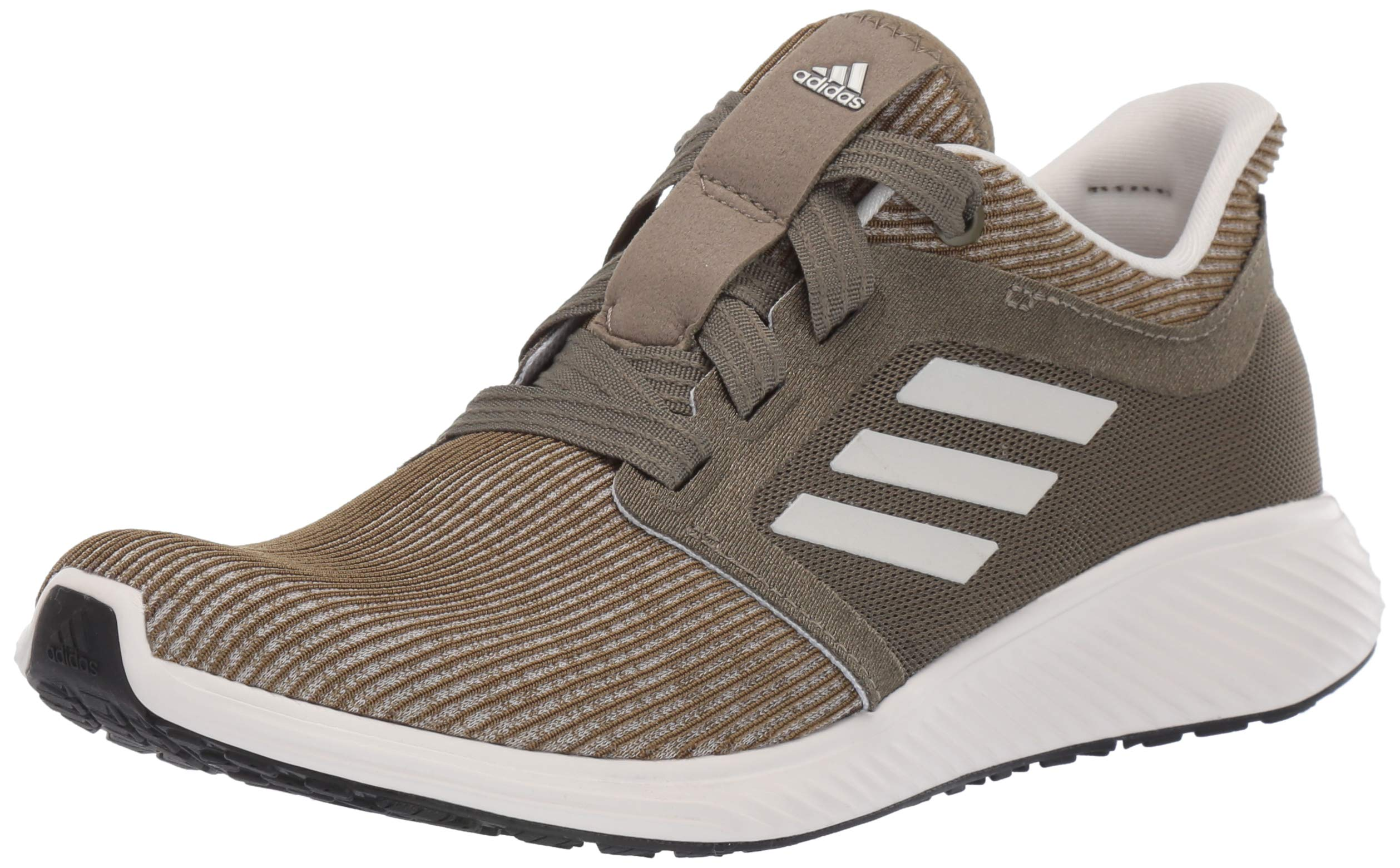 adidas Women's Edge Lux 3, Khaki/raw White/Yellow, 5.5 M US