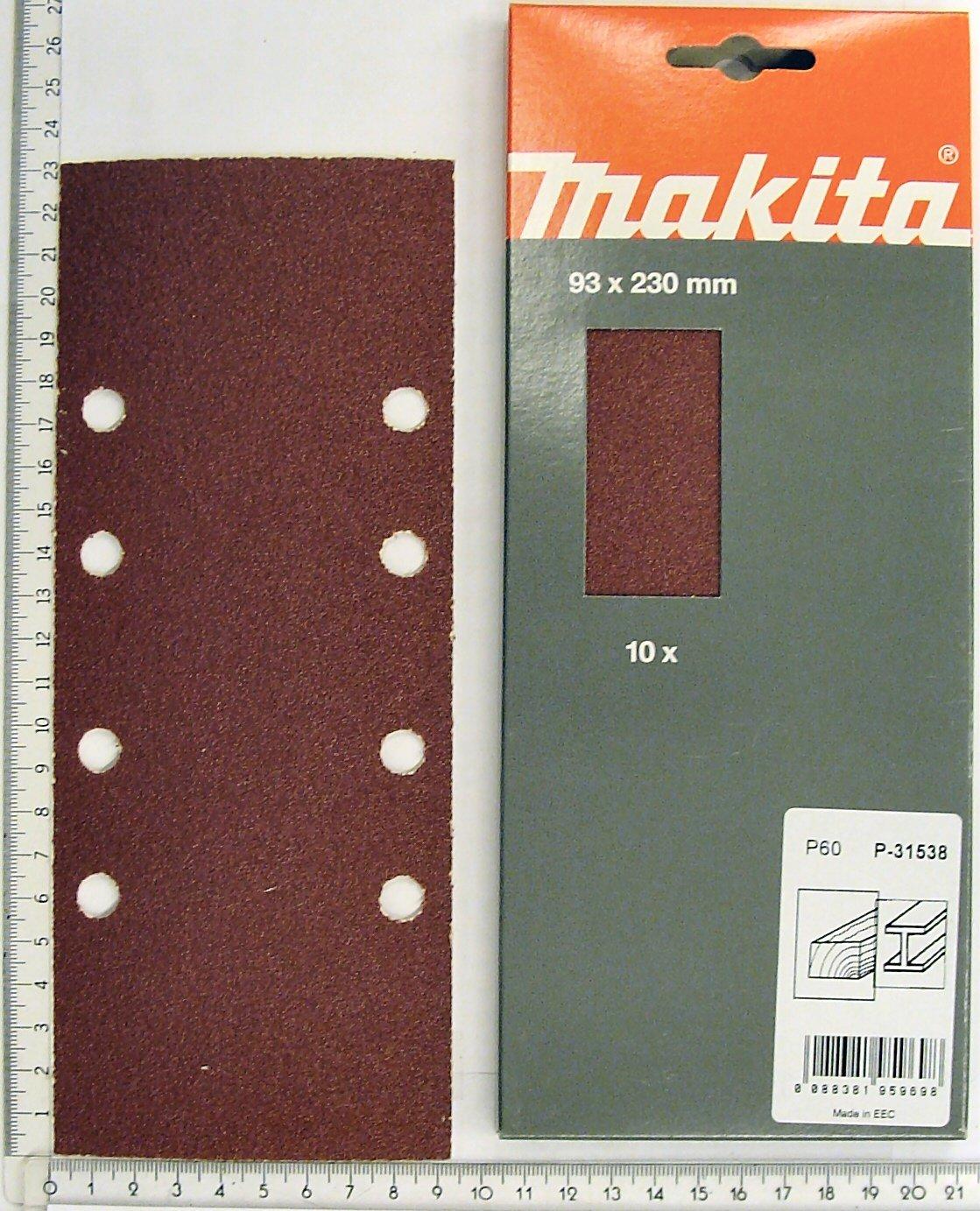 grano, P-36061 0 wattsW, 0 voltsV Makita tira abrasiva