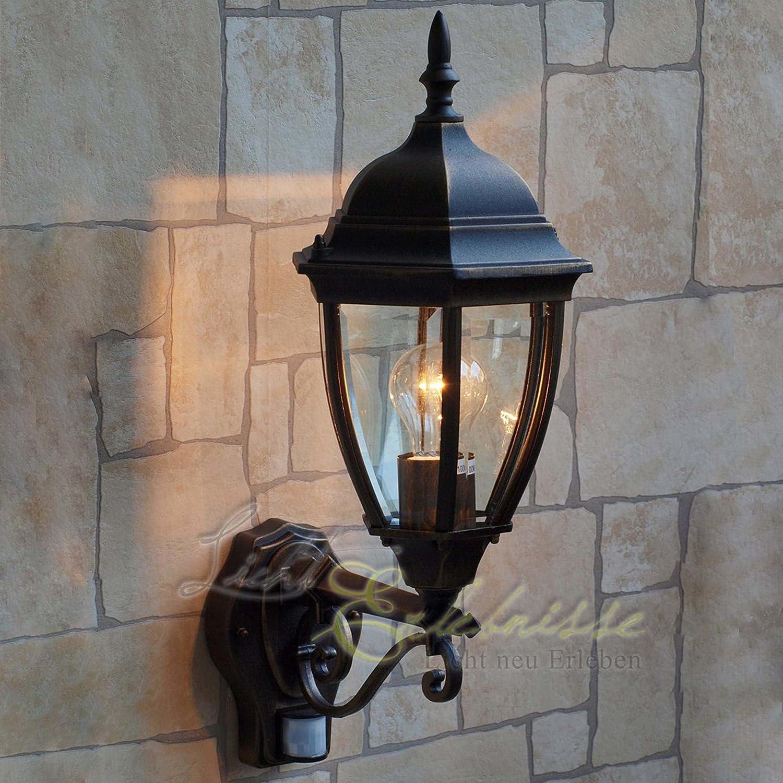Hochwertige LED Energiespar-Aussenwandlampe 12 Watt mit Bewegungsmelder Wandleuchte