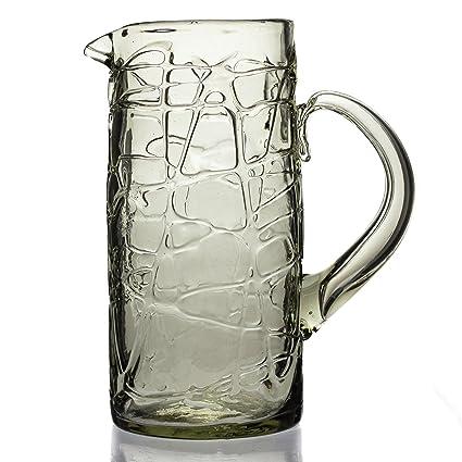 Jarra grande (2 litros), Loco, mano soplado de vidrio reciclado – comercio