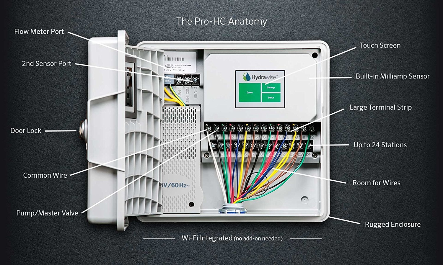 6 Station Hunter PRO-HC PHC-600 Residential Outdoor Professional Grade Wi-Fi Controller With Hydrawise Web-based Software