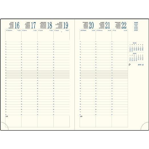 Exacompta - 1 agenda semanal Eurotime 24 Oriane - Jan a ...