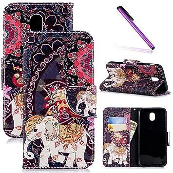 COTDINFOR Galaxy J5 Pro Funda Precioso Animales Patrón Suave PU Cuero Magnético Billetera con Tapa para Tarjetas de Cárcasa para Samsung Galaxy J5 ...